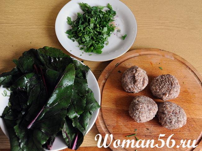 Долма из свекольных листьев рецепт с фото