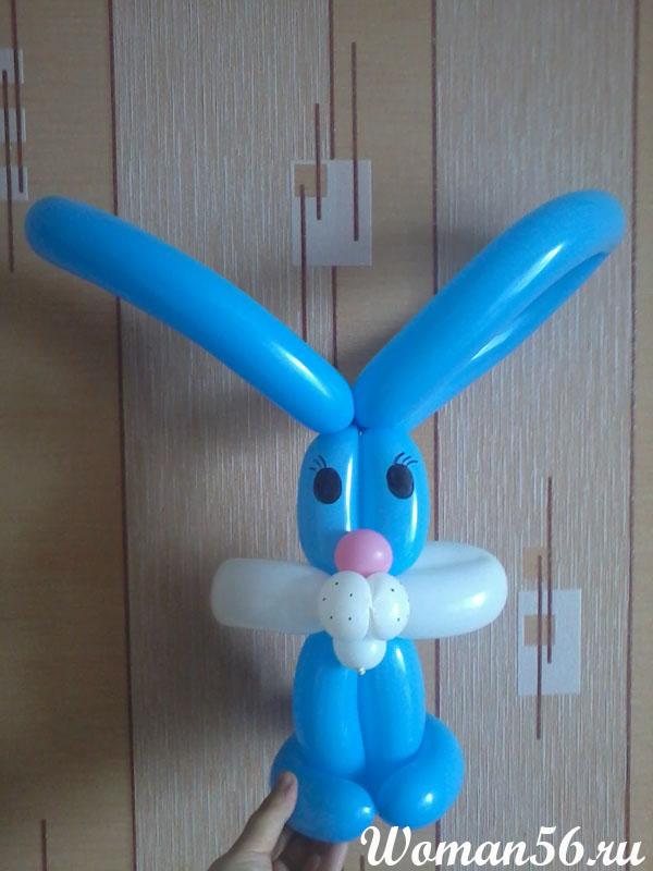 заяц из шаров своими руками пошаговая инструкция