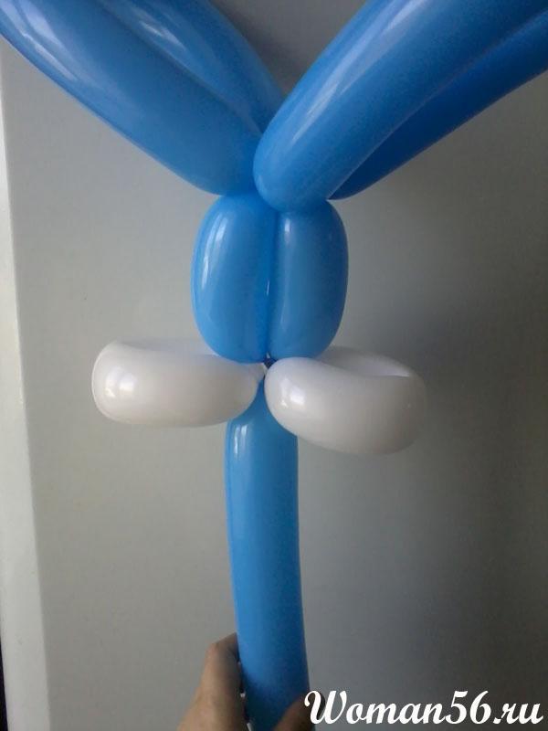заяц из шаров своими руками пошаговая инструкция - фото 4