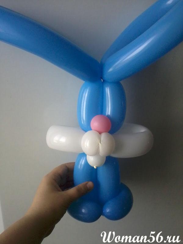 заяц из шаров своими руками пошаговая инструкция - фото 6