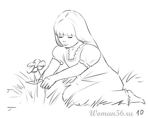 Как рисовать девочку из сказок