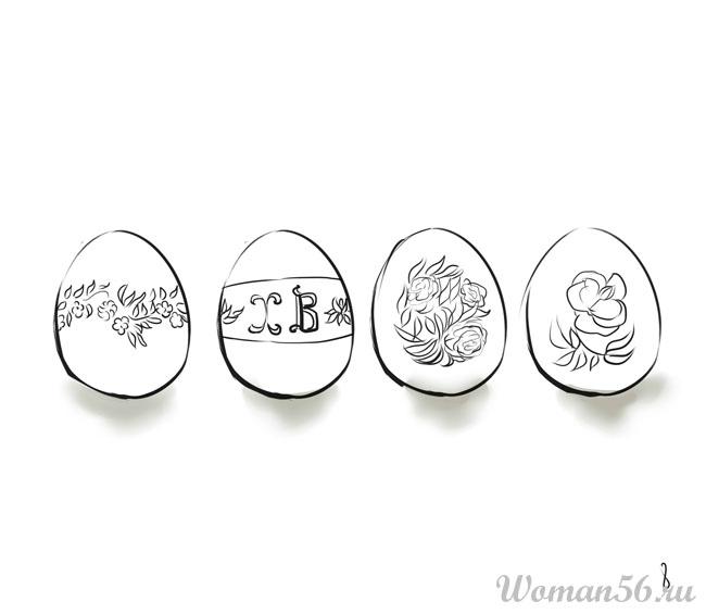 рисунки на яйцах: