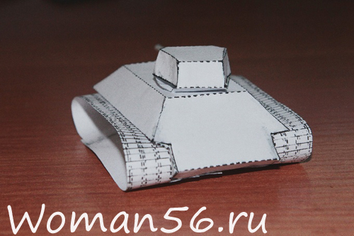 Как сделать танк из бумаги.