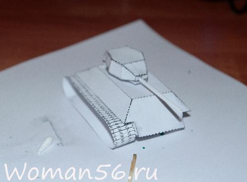 Как сделать танк из бумаги схема т 34