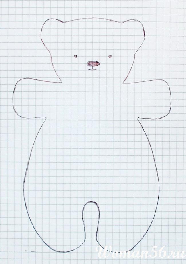 Как сшить медвежонка своими руками выкройки 153