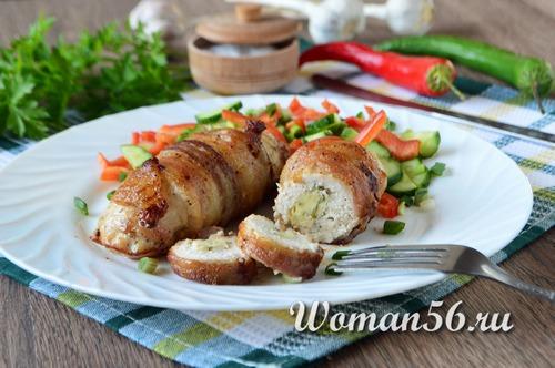 куриные рулеты с сыром в духовке рецепты