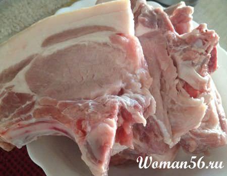 Корейка свиная фото на сковороде с