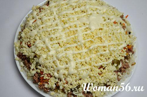 Рецепт блинного торта с куриной печенью