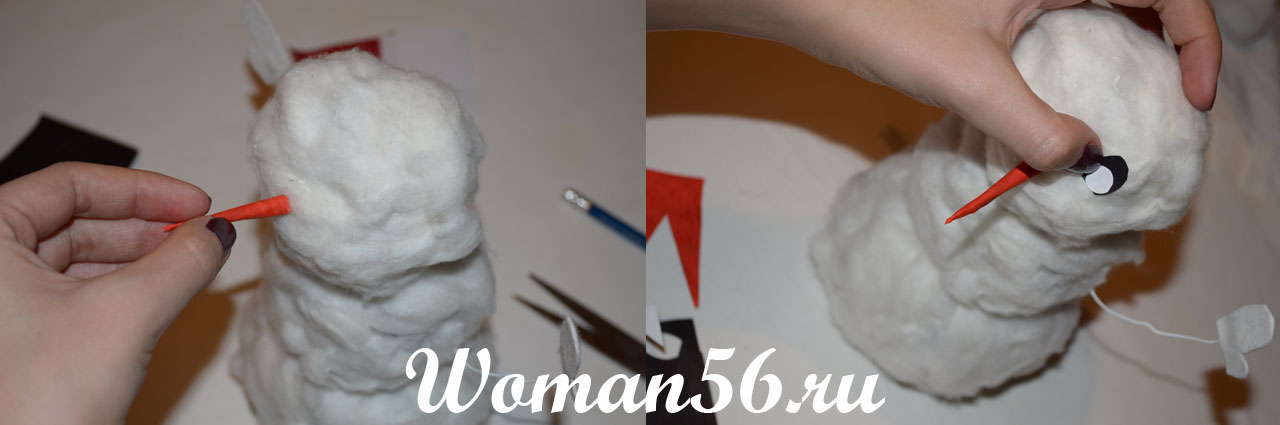 Как сделать снеговика из ваты своими руками фото 90