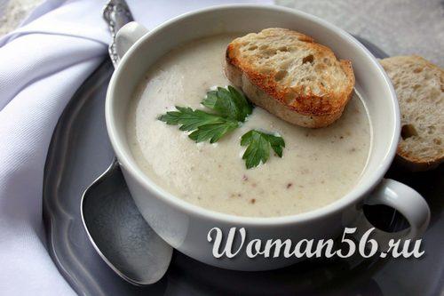Грибной суп со сливками для мультиварки