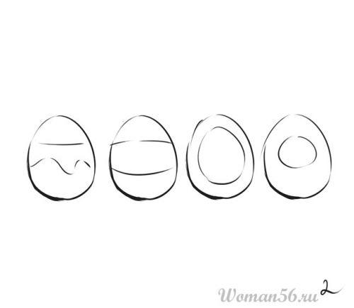 Как нарисовать рисунок на пасхальных яйцах.  Пошаговый урок.