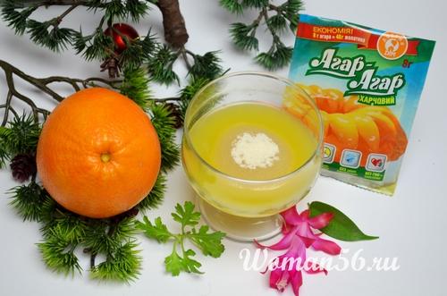 агар агар апельсиновый мармелад