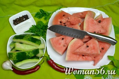 куски арбуза для арбуза без кожуры