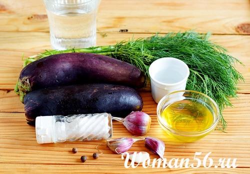 ингредиенты для баклажанов со вкусом грибов