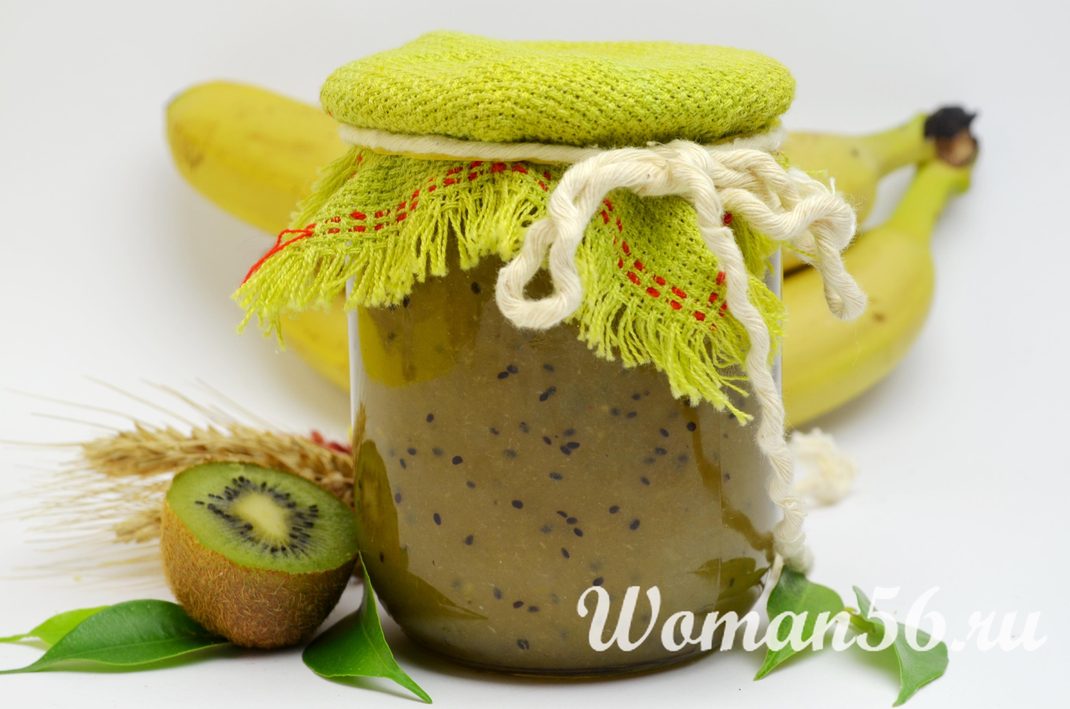рецепт желе из киви и бананов