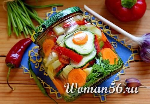 Овощное ассорти на зиму рецепты с фото