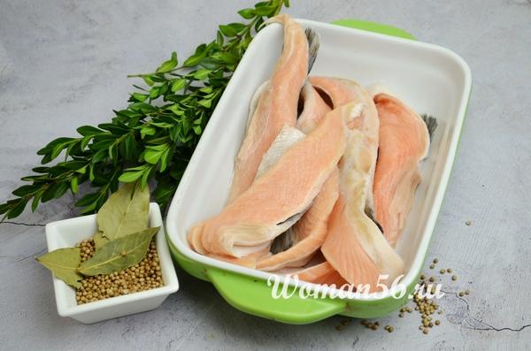 брюшки лосося в форме