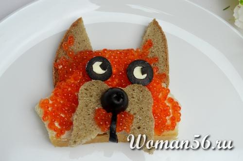 бутерброды с красной для детей