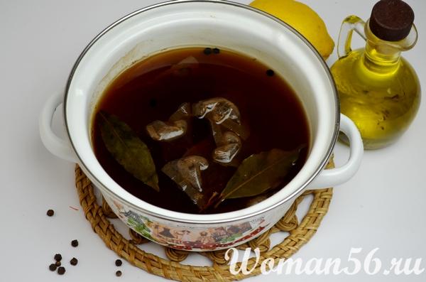 чайный рассол для рыбного маринада