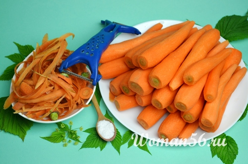 свежая морковь для сока