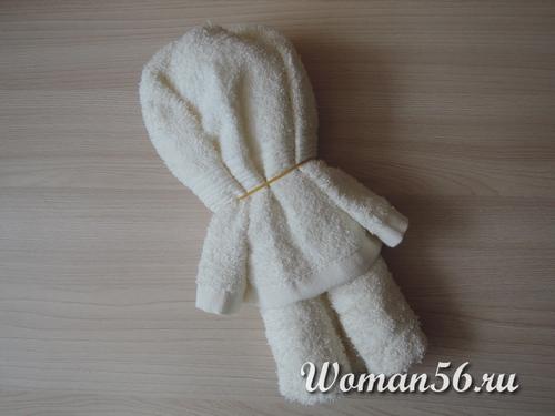 резинки для медвежонка из полотенца