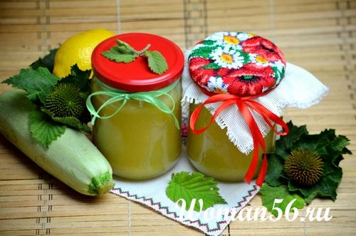 джем из кабачков с лимоном фото