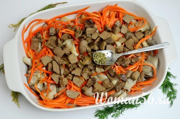обжаренная печень верхний слой салата