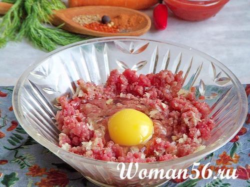 фарш из говядины с яйцом