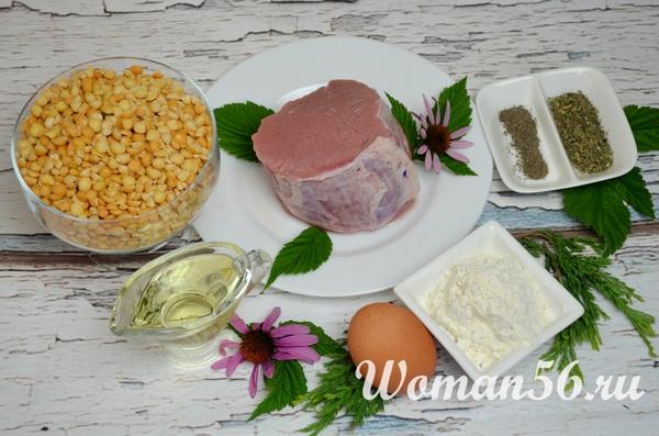 ингредиенты для гороховых котлет