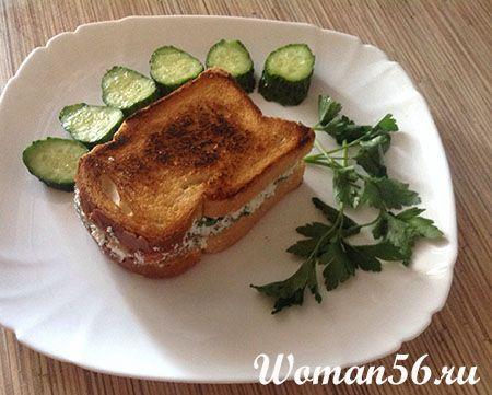 Горячие сэндвичи с творогом