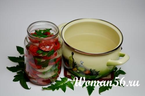 горячий маринад для салата