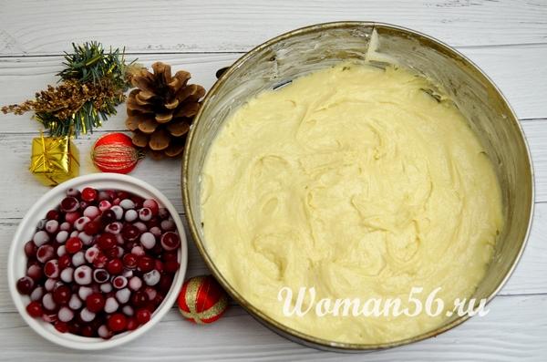 готовое тесто для клюквенного пирога