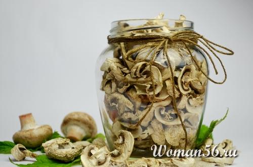 сушеные грибы в электросушке