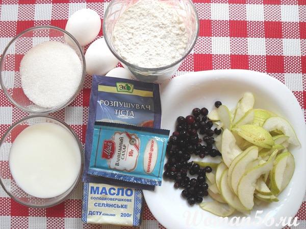 ингредиенты грушевого пирога