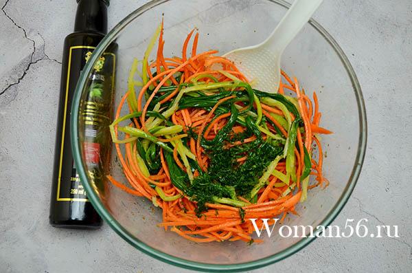 салат с черемшой и морковью