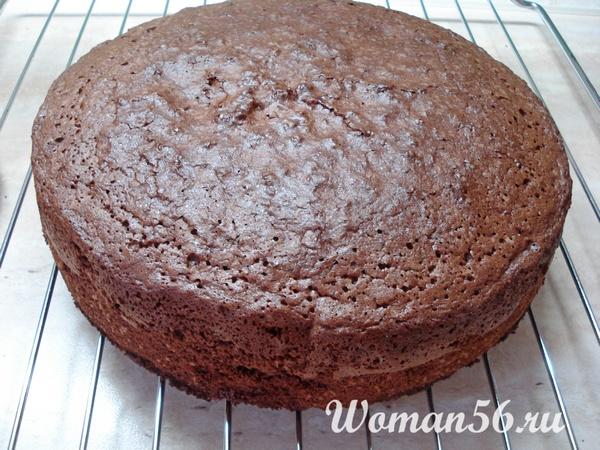 шоколадный корж для торта