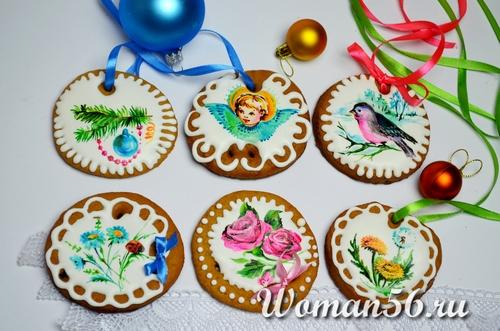 как разукрасить имбирное печенье