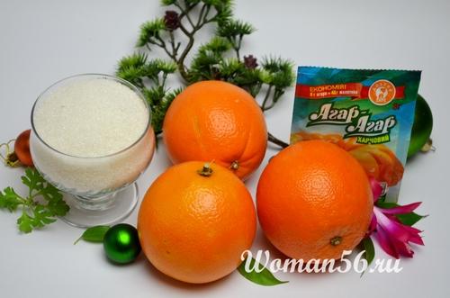 ингредиенты мармелада из апельсина