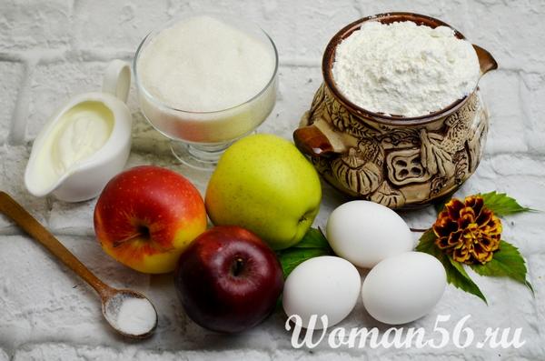 ингредиенты яблочного пирога с безе