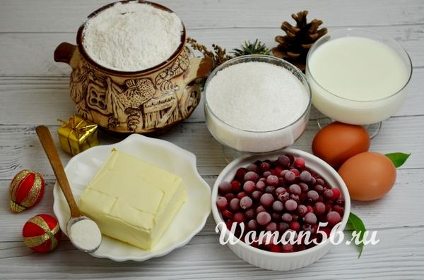ингредиенты клюквенного пирога