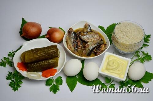 ингредиенты салата из сайры