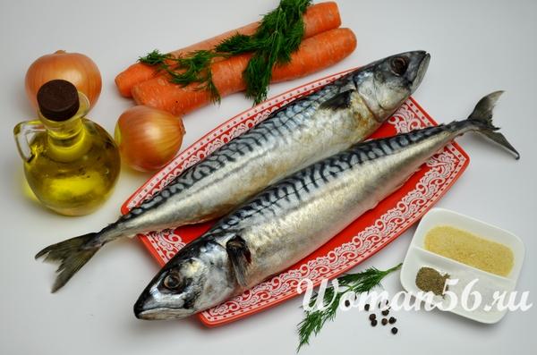 ингредиенты для рулетов из скумбрии с желатином