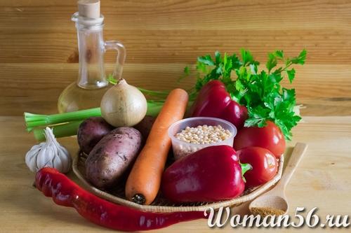 ингредиенты горохового супа пюре