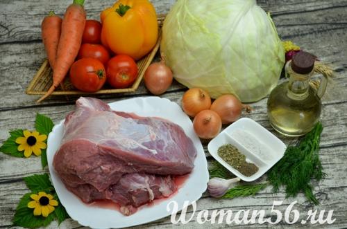 рецепт тушеной капусты с мясом в мультиварке мулинекс