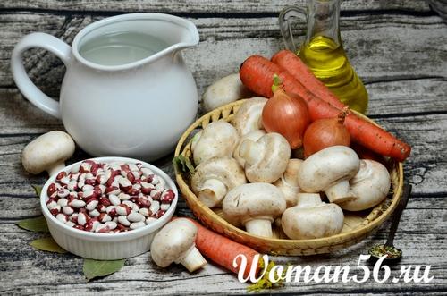 ингредиенты салата из фасоли