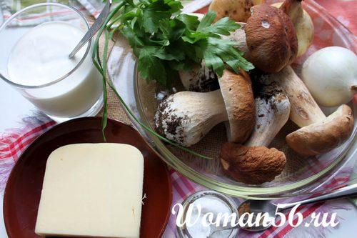 ингредиенты жульена из грибов