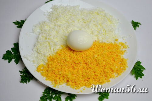 желток и белок для мимозы