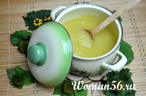 кабачковое пюре с лимоном