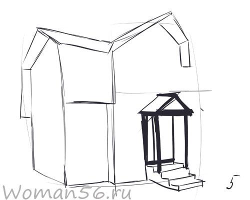 Как нарисовать дом