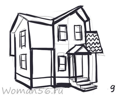 дом картинки нарисовать